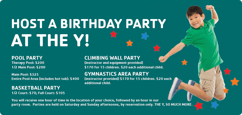 birthday parties at the Y